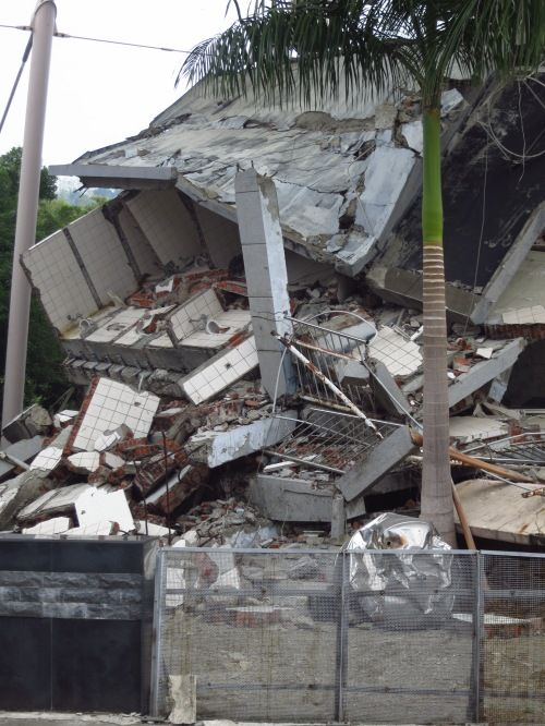 The destroyed Guangfu Junior High School, now the 921 Earthquake Museum of Taiwan