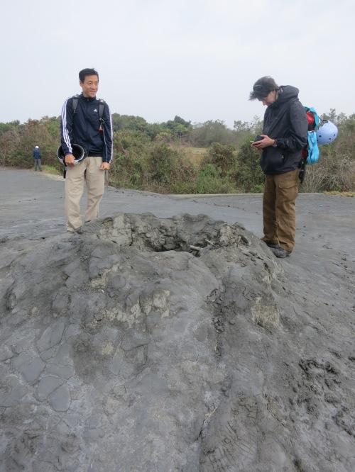 Gunshui shan Mud Volcano, near Qiaotou