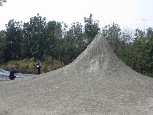 The dormant mud volcano cone at Wushanding, the best in Taiwan