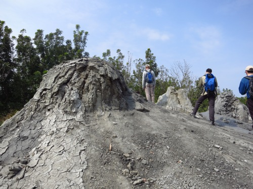 The 'live' mud volcanoes at Wushanding