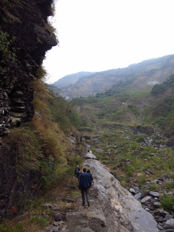 The route to Meiya Waterfall (now a fun scramble - Morakot destroyed the path)