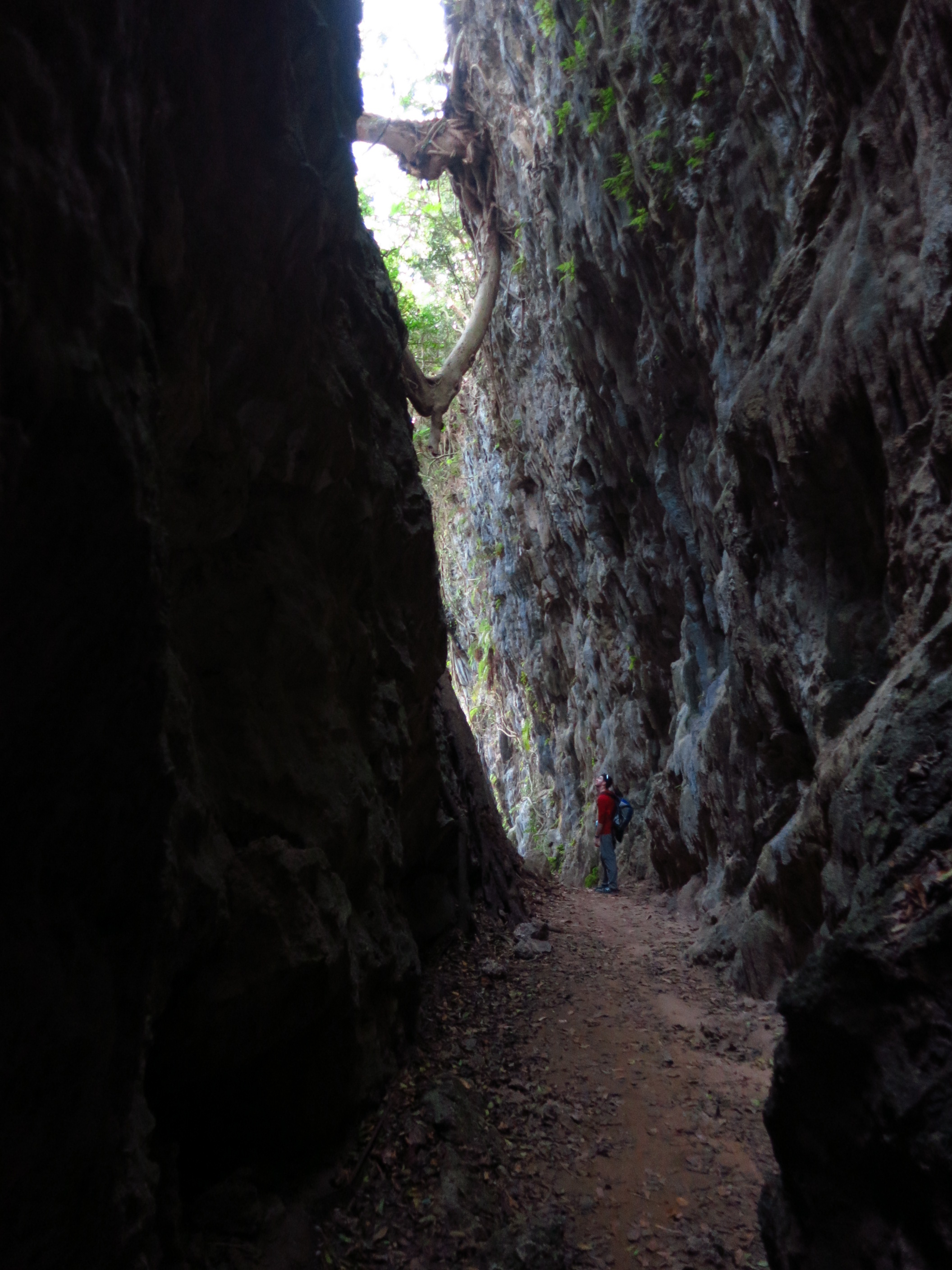 The Natural Cleft behind the 'Stone Breast' Temple near Tianliao
