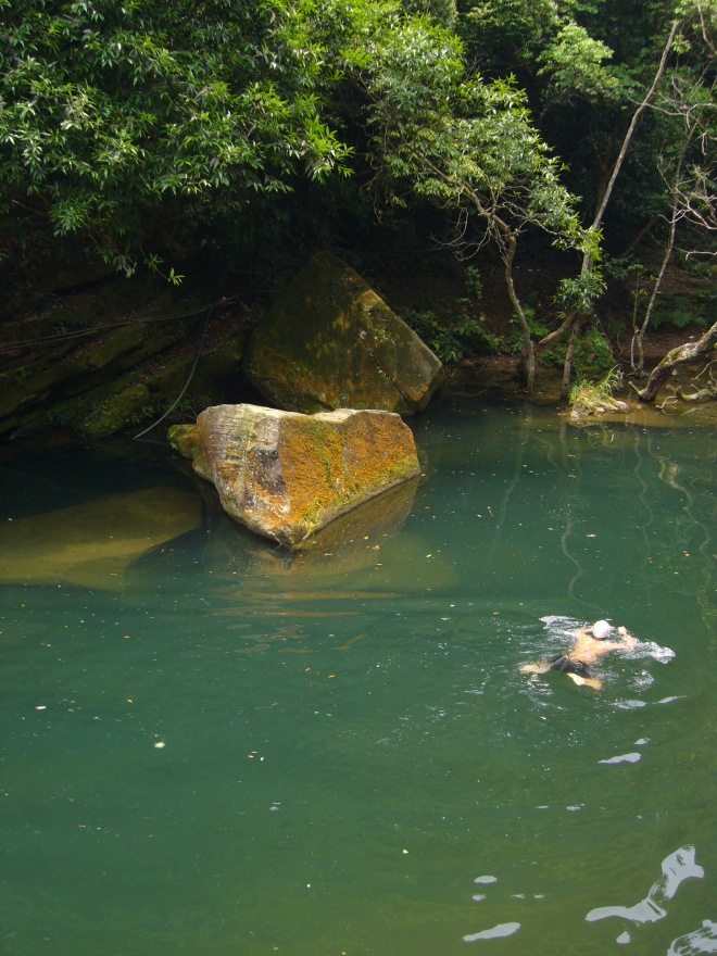Natural swimming pool on the Youna Stream