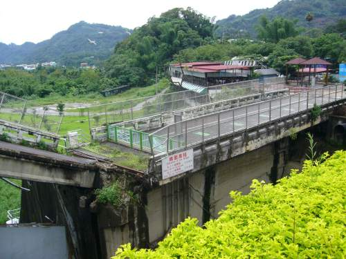 The broken dam at Shigang, near Taichung