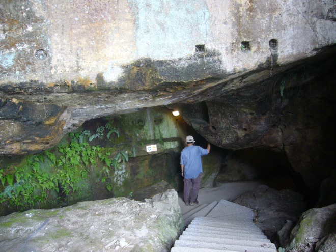 The entrance to the Buddha's Hand Cave