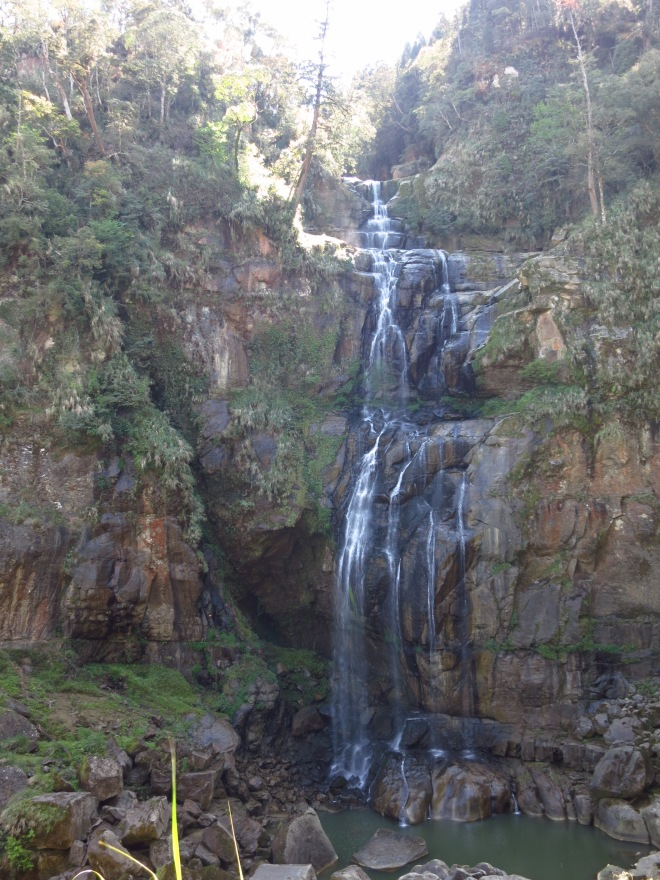 The impressive Blue Dragon Waterfall is supposed to be over 100 meters high