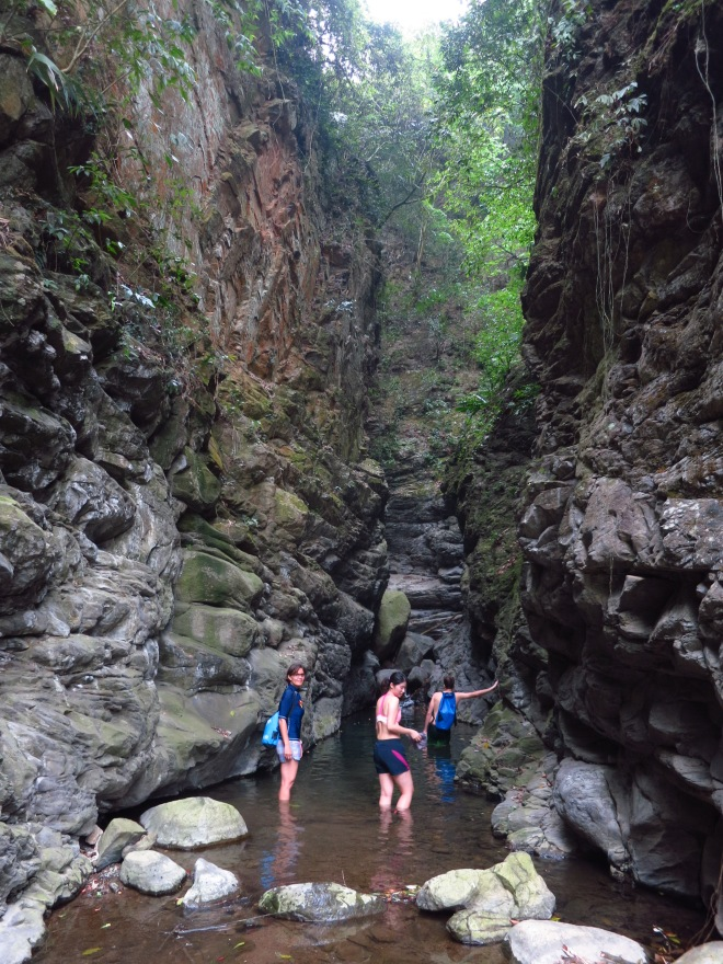 The mouth of the short but atmospheric Ningqing ('peaceful') Gorge near Shuili in Nantou County
