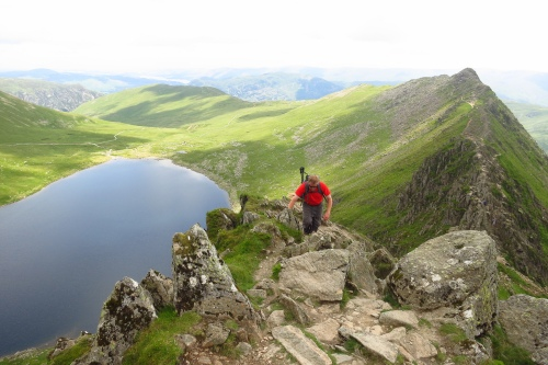 Near the summit of Helvellyn