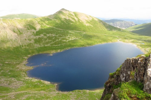 View from the summit of Helvellyn