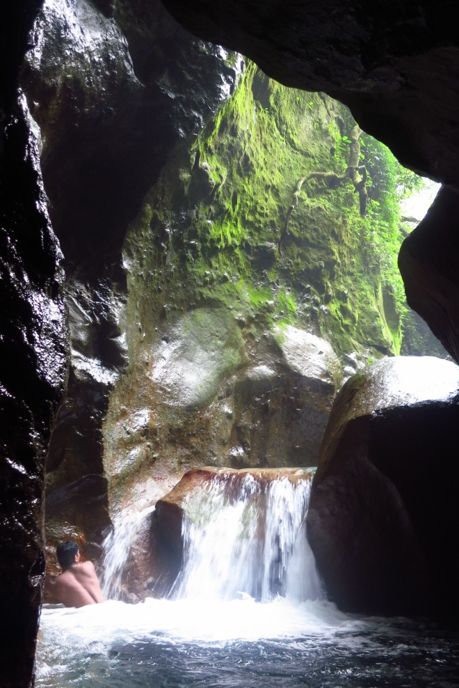 The 'cave' on the Shanghuang Stream