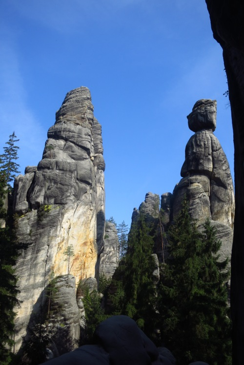 The Mayor and Mayoress - the most famous rock towers at Adrspach-Teplice