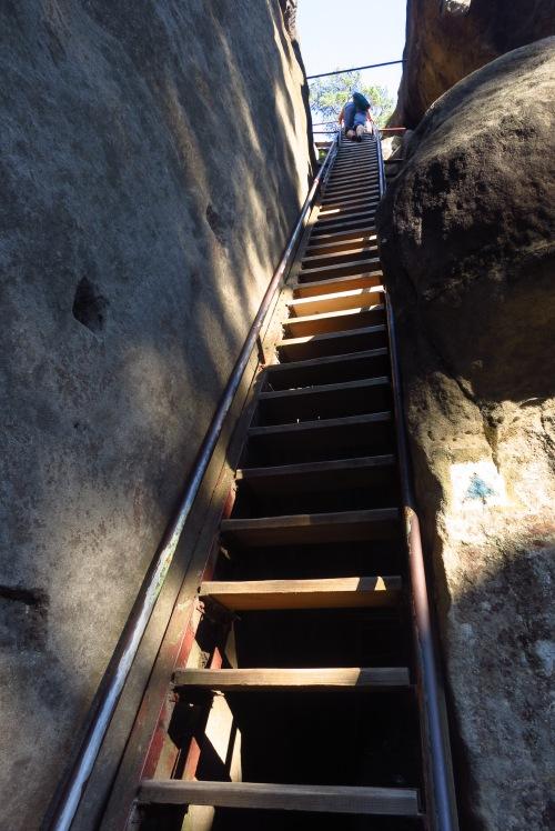 Climbing up to Strmen