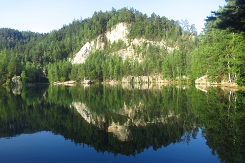 The lake at Adrspach