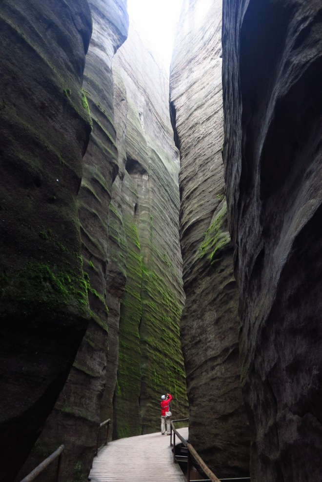One of the many narrow chasms at Teplice