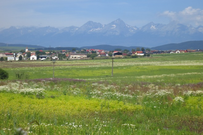 The High Tatras from Podlesok, on the edge of the Slovensky Raj