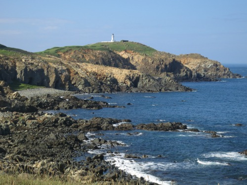On the east coast, looking south towards the lighthouse