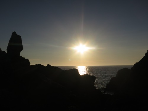 Sunset at the Guanyin Rock, west coast