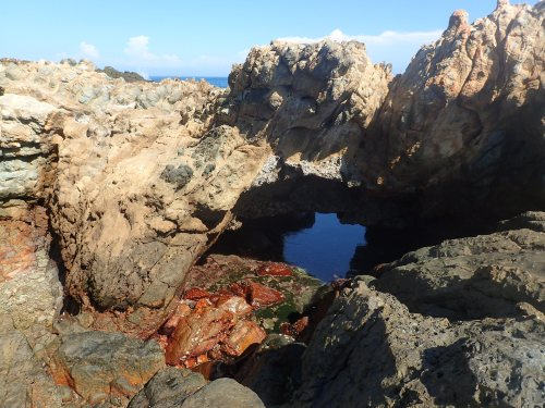 Little Whale Cave, just along the coast from Hua Island village