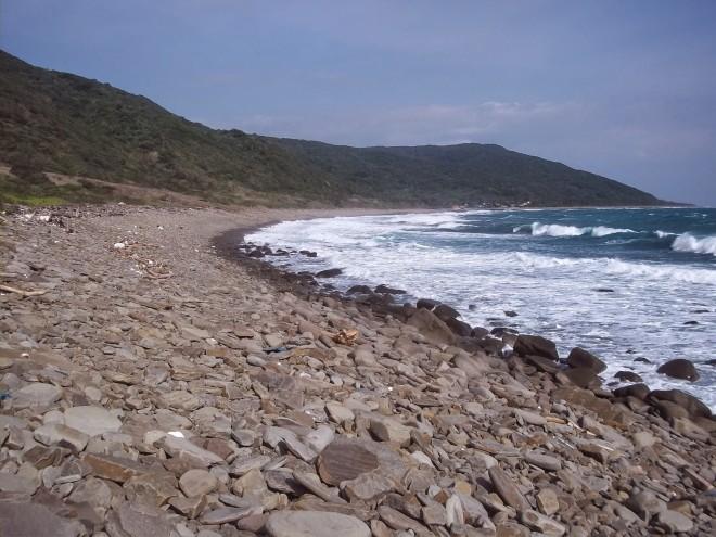 The beautiful, untouched coastline