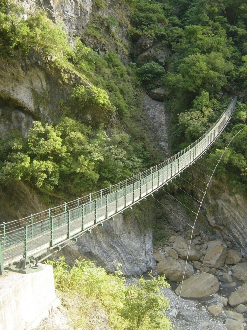 The eastern trailhead, at Swallows Grotto in Taroko Gorge
