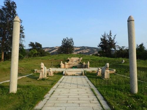 The rebuilt Tomb of Huang Wei , Kinmen island