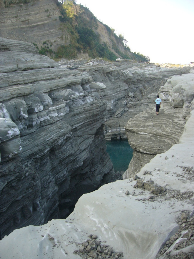 The Grand Canyon of the Dahan River, on the border between Taichung City and Miaoli County, created by the great 921 earthquake of 1999