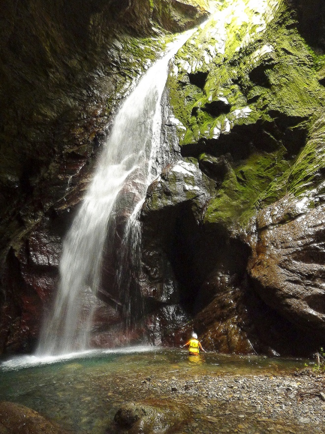 Golden Grotto, one of Taiwan's finest river traces, Hualien County