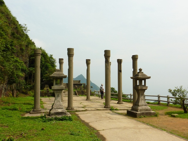 Ruined Shinto shrine at Jinguashi, New Taipei City