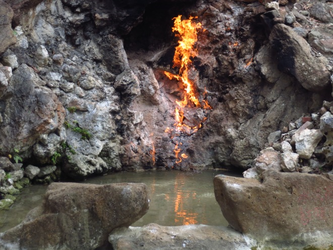 Fire Water Spring at Guanziling, Chiayi County