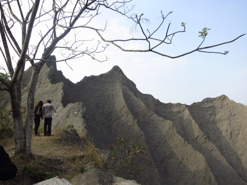 Badlands formations at the Grand Canyon, Caoshan, Tainan City