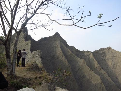 Badlands formations at the Grand Canyon, Caoshan, Tainan City