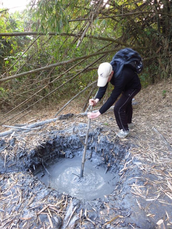 Mud Volcano at Tianliao, Tainan County