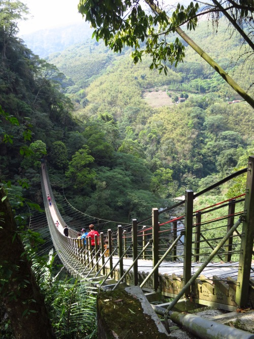 The original Heavenly Steps bridge at Taiji Canyon in Nantou has since spawned several imitators around the island