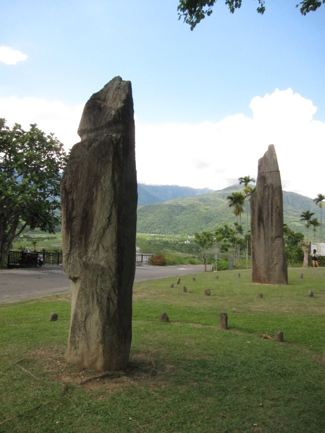 The Saoba Stone Pillars, the visible part of a prehistoric site over 3,000 years old, Hualien County