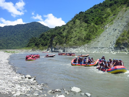 Rafting the Xiuguluan River, Hualien County