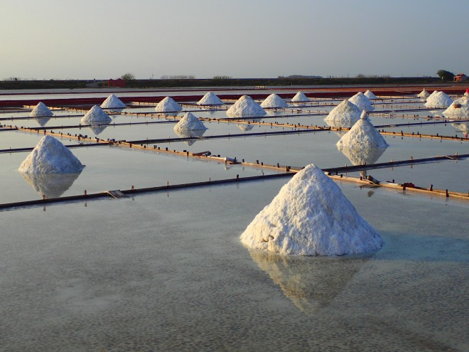 Salt fields at Jingzaijiao, Tainan County