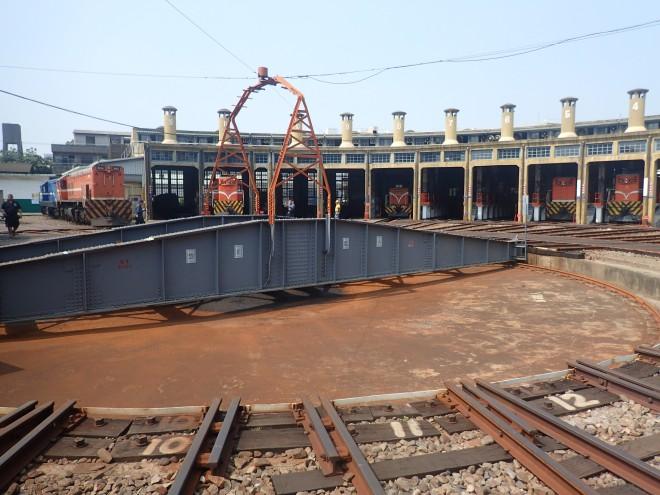 The famous Fan-shaped Railway Depot at Chunghua