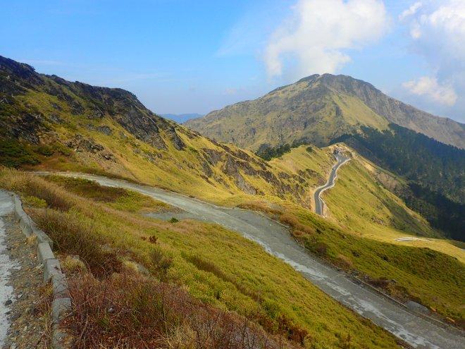 Taiwan's highest road (3,200 meters) at Mount Hohuan, Nantou County