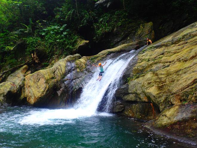 The lower fall at Jinyue Waterfall, Yilan County