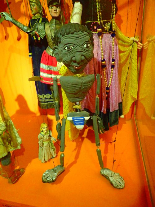 Taiwanese Budaixi (glove puppets) at Taiyuan Asian Puppet Theatre Museum in Taipei City