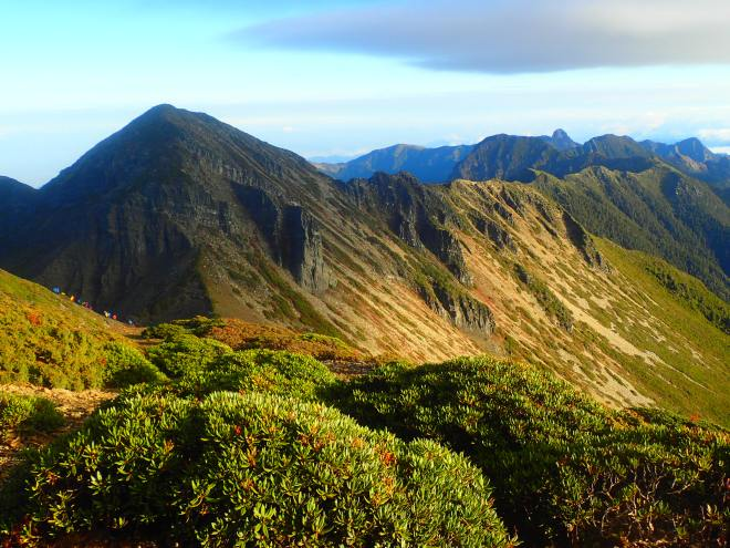 The view from the summit of Snow Mountain, Taiwan's second highest mountain at 3,886 meters