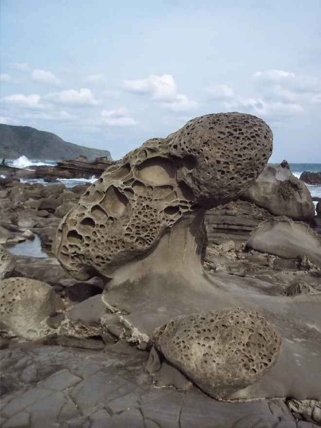 Bizarre rock formations at Chufengbi, Pingtung County