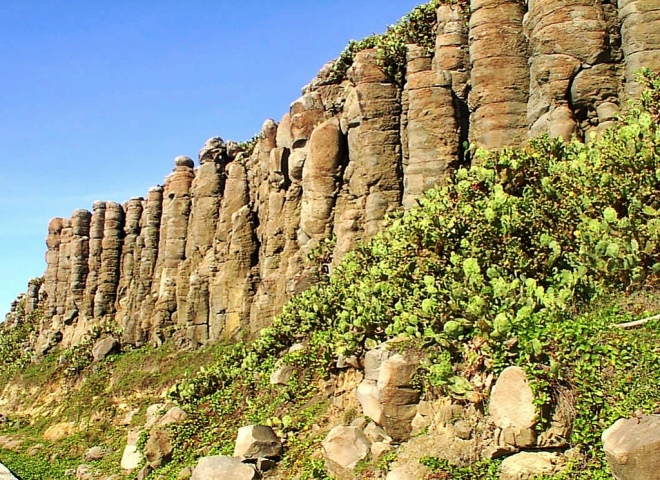Basalt cliffs on Tongpan island, Penghu