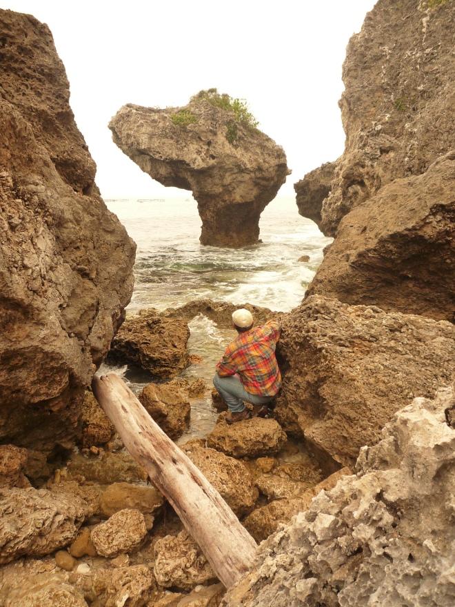 Bizarre coral formations on Xiao Liuqiu island, Pingtung County