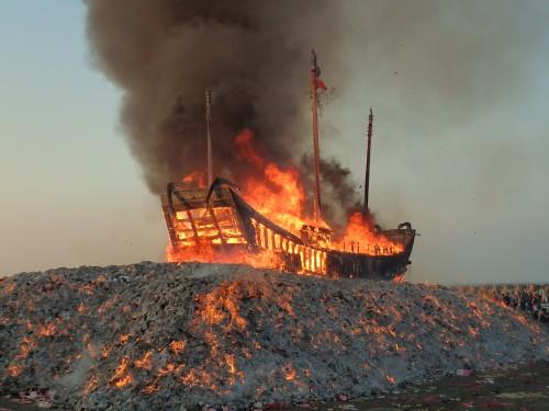 The Boat Burning Festival at Donggang, Pingtung County