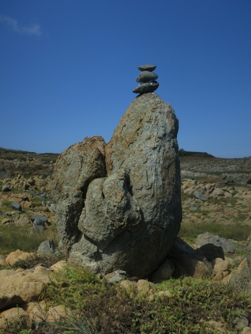 Rock formation on remote Hua Island, Penghu