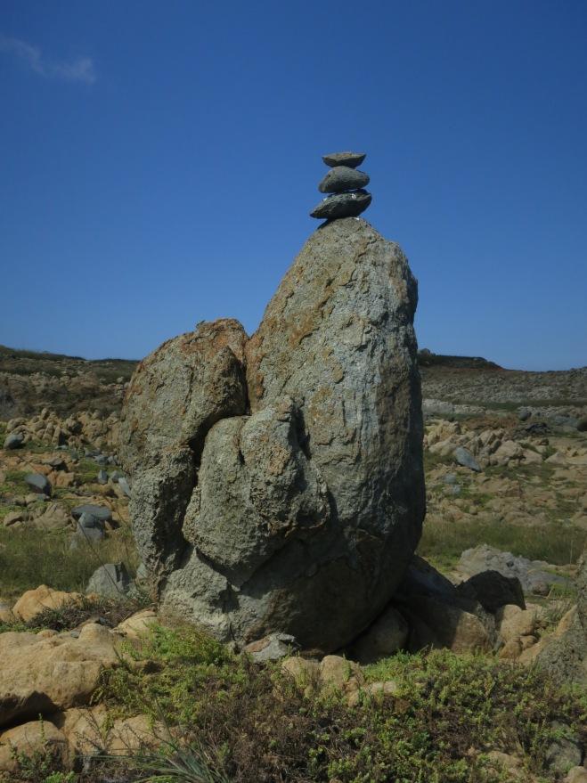 Rock formation on remote Hua Island, Penghu