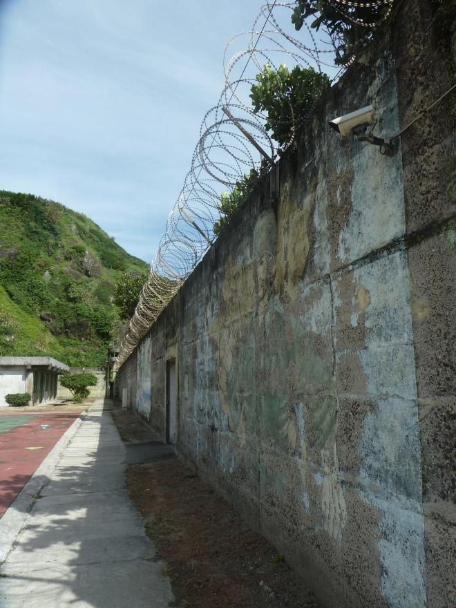 The wall of Oasis Villa, Green Island