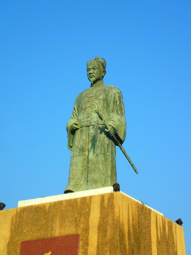 Statue of Koxinga, Taiwan's national hero, at Taijiang National Park, Tianan City