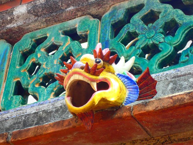 Detail on a house in a traditional Kinmen village